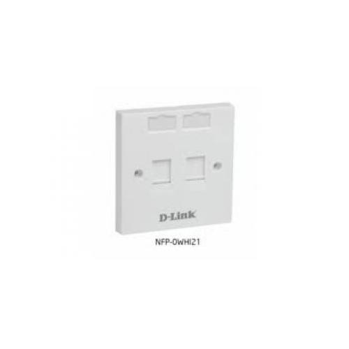 D Link NFP 0WHI21 2 Dual Face Plate  dealers price chennai, hyderabad, telangana, tamilnadu, india
