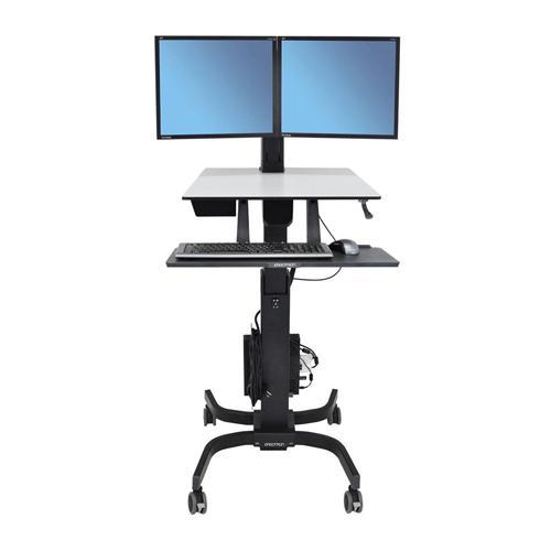 Ergotron WorkFit C Dual Sit Stand Workstation dealers price chennai, hyderabad, telangana, tamilnadu, india