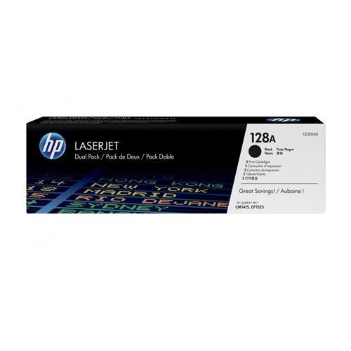 HP 128A CE320AD Twin Pack Black LaserJet Toner Cartridge dealers price chennai, hyderabad, telangana, tamilnadu, india