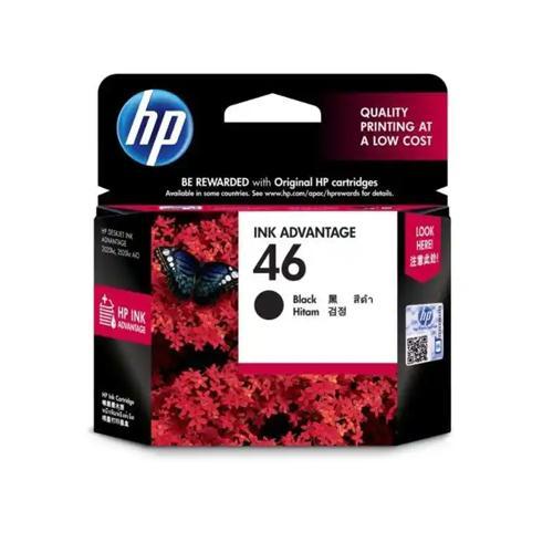 HP 46 CZ637AA Black Original Ink Cartridge dealers price chennai, hyderabad, telangana, tamilnadu, india