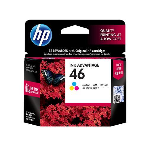 HP 46 CZ638AA Tri color Ink Advantage Cartridge dealers price chennai, hyderabad, telangana, tamilnadu, india