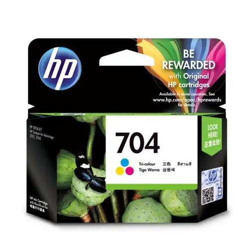HP 704 CN693AA Tri color Original Ink Cartridge dealers price chennai, hyderabad, telangana, tamilnadu, india