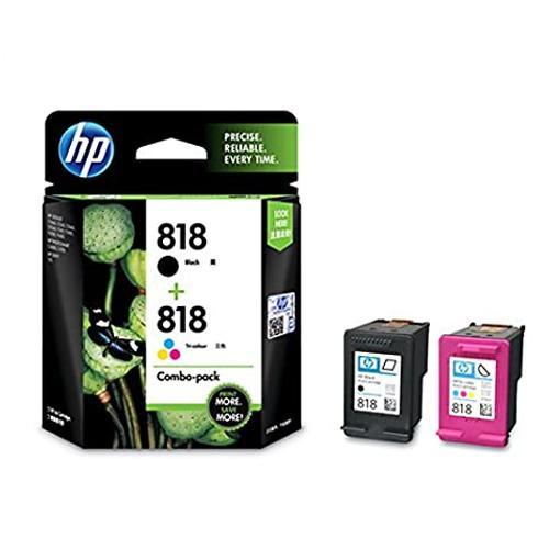 HP 818 CN068AA Combo Black Tri color Ink Cartridge dealers price chennai, hyderabad, telangana, tamilnadu, india