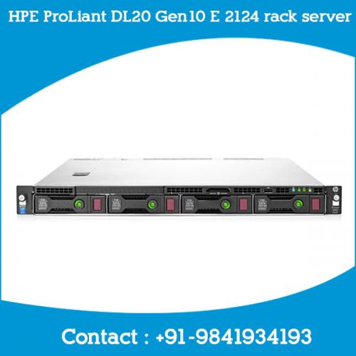 HPE ProLiant DL20 Gen10 E 2124 rack server dealers price chennai, hyderabad, telangana, tamilnadu, india