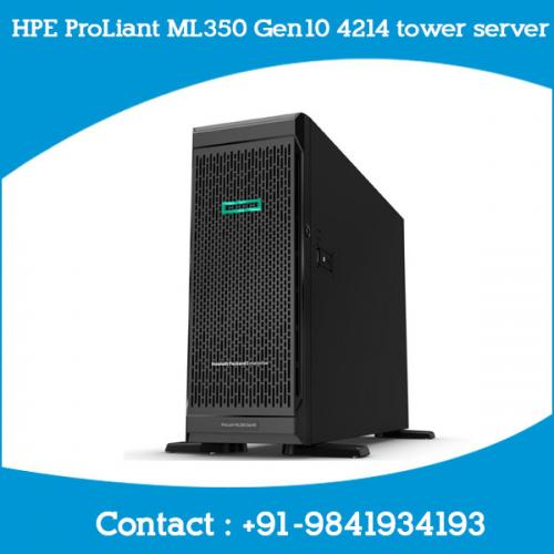 HPE ProLiant ML350 Gen10 4214 tower server chennai, hyderabad, telangana, tamilnadu, india