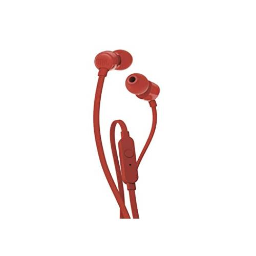 JBL T110 Wired In Red Ear Headphones chennai, hyderabad, telangana, tamilnadu, india